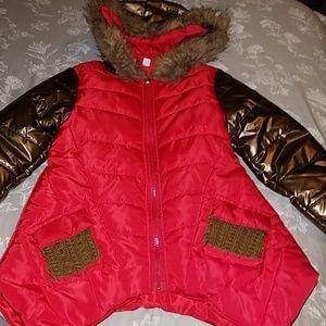 Other - Litte Girls Winter Puffer Coat with Shark bite hem